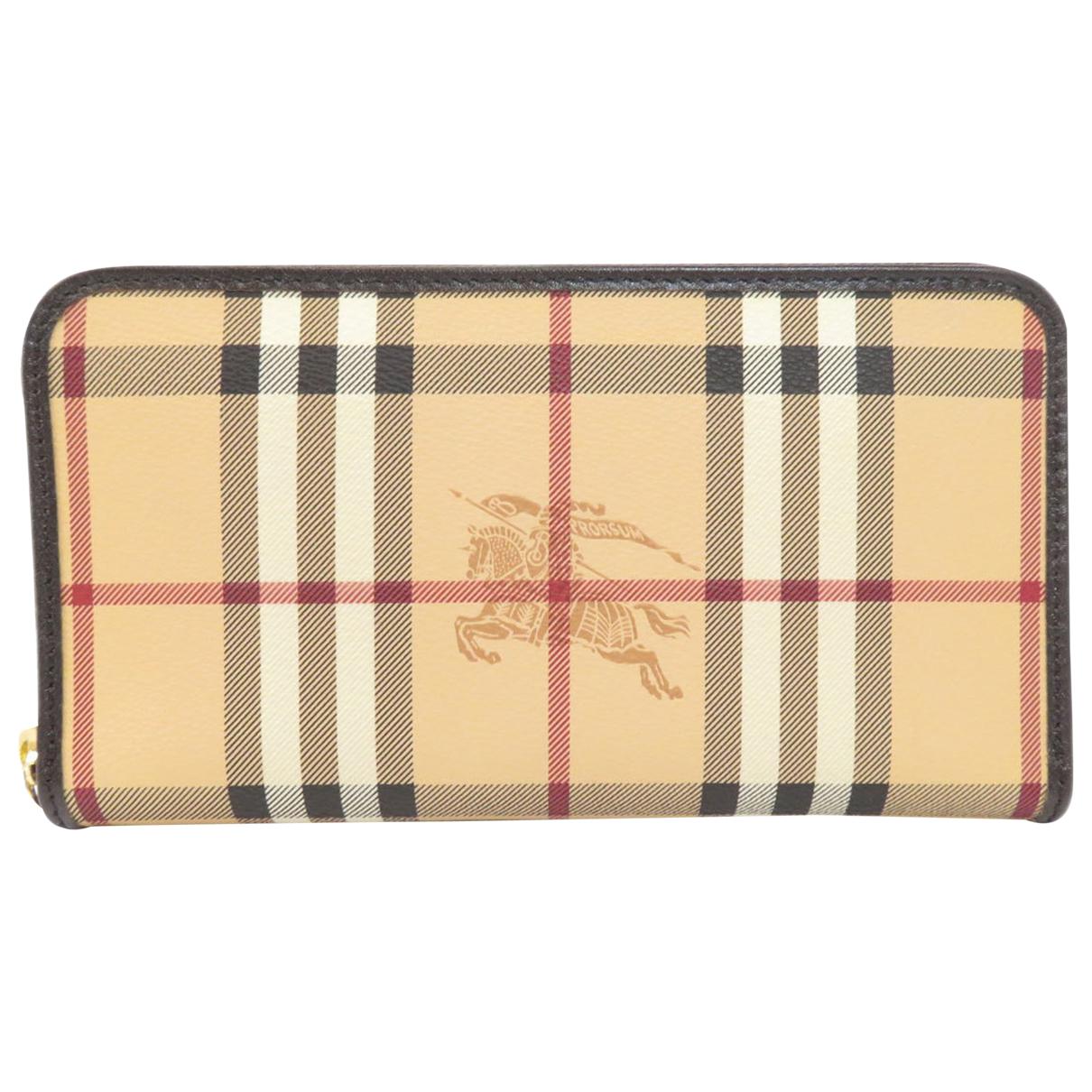 Burberry - Portefeuille   pour femme en toile - beige
