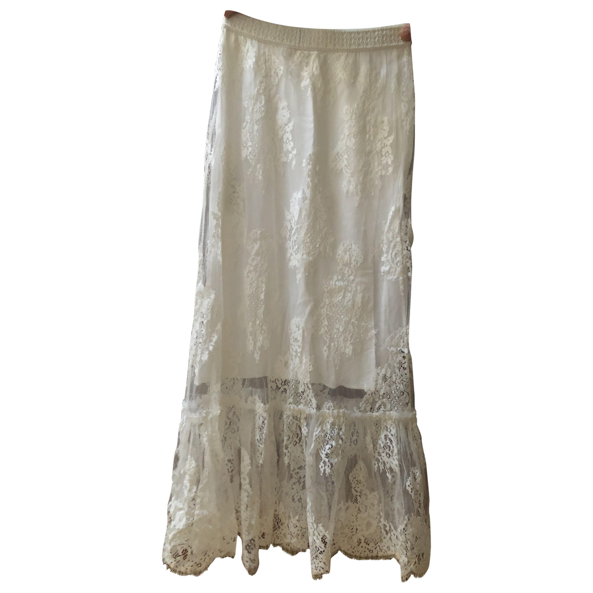 Maje N White skirt for Women 36 FR