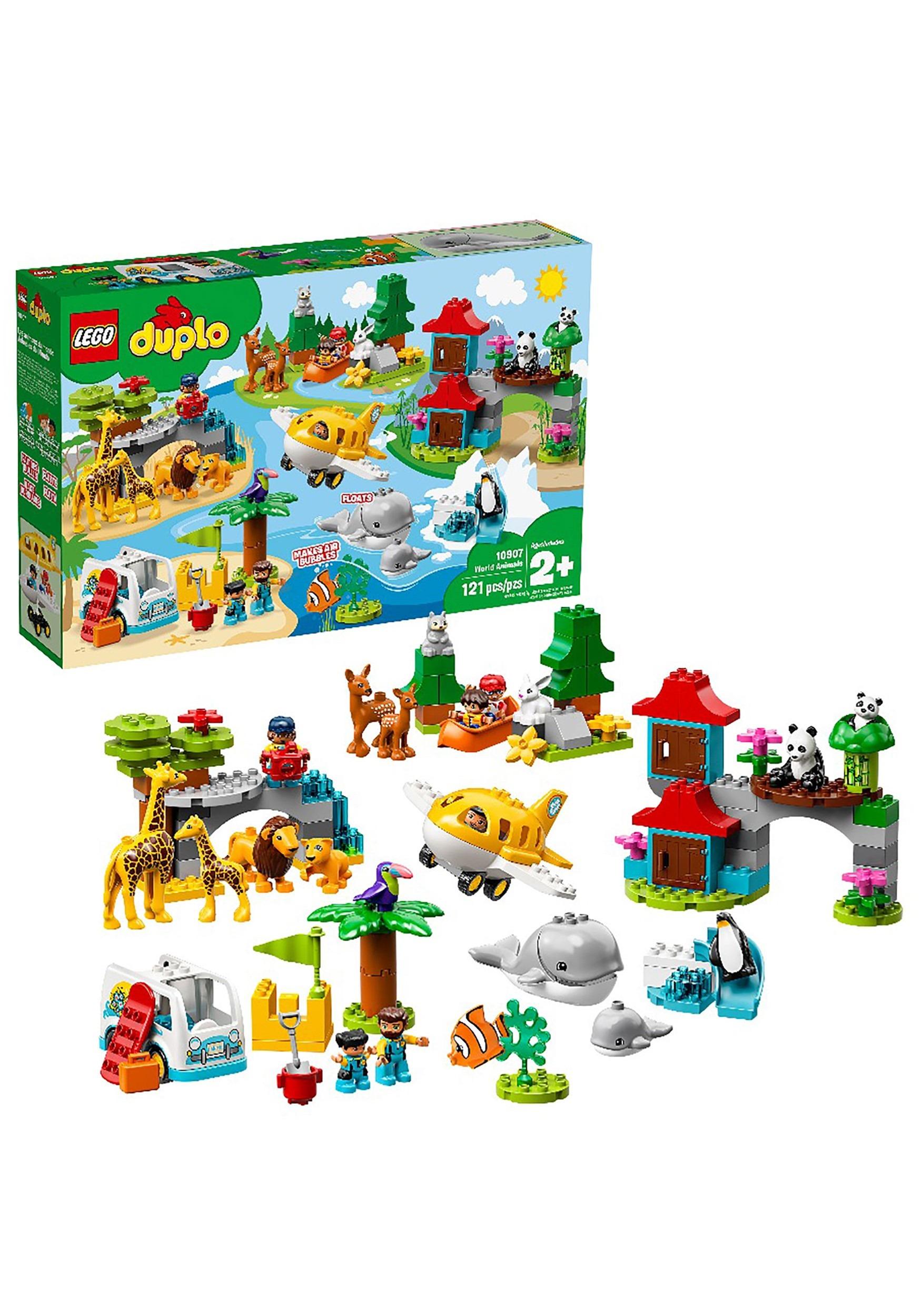 LEGO DUPLO 121 Piece Town World Animals Set
