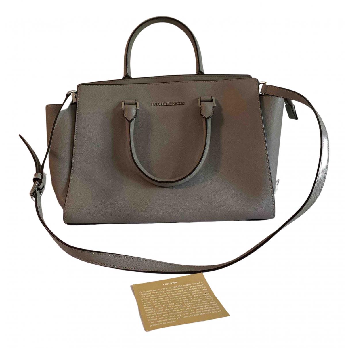 Michael Kors Selma Grey Leather handbag for Women N