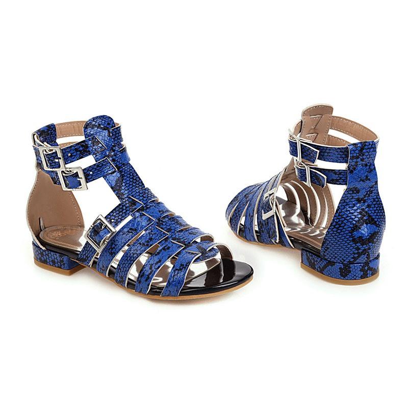 Ericdress Block Heel Open Toe Heel Covering Hollow Sandals