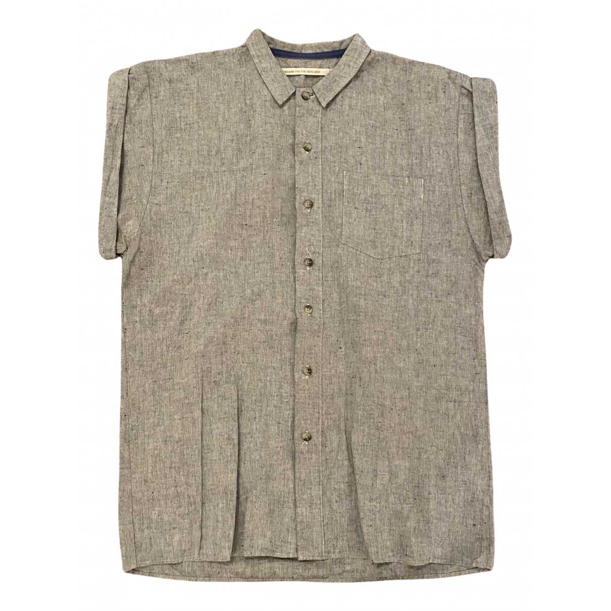 Non Signé / Unsigned N Grey Cotton Shirts for Men S International