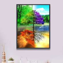 Tree Pattern Diamond Painting Without Frame