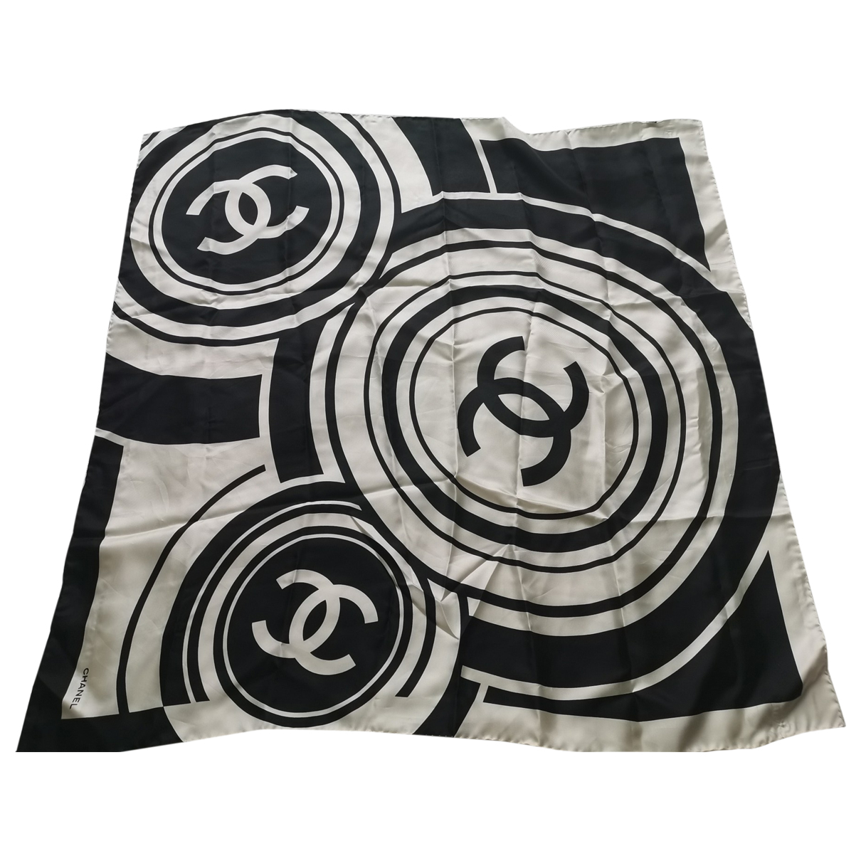 Chanel - Carre   pour femme en soie - noir