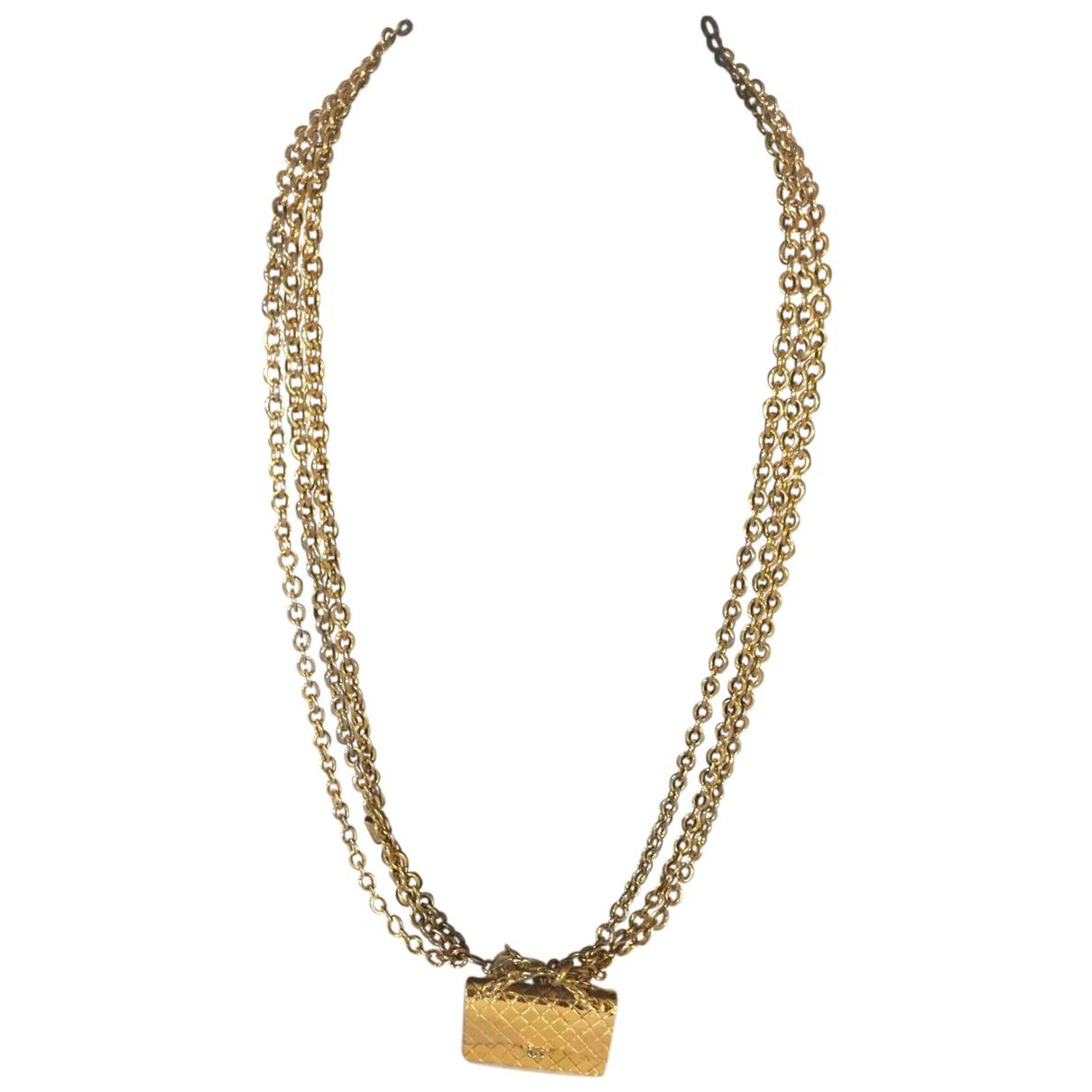 Chanel - Sautoir   pour femme en acier - dore