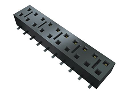 Samtec , HLE 2.54mm Pitch 6 Way 2 Row Straight PCB Socket Strip, Surface Mount, SMT Termination (74)
