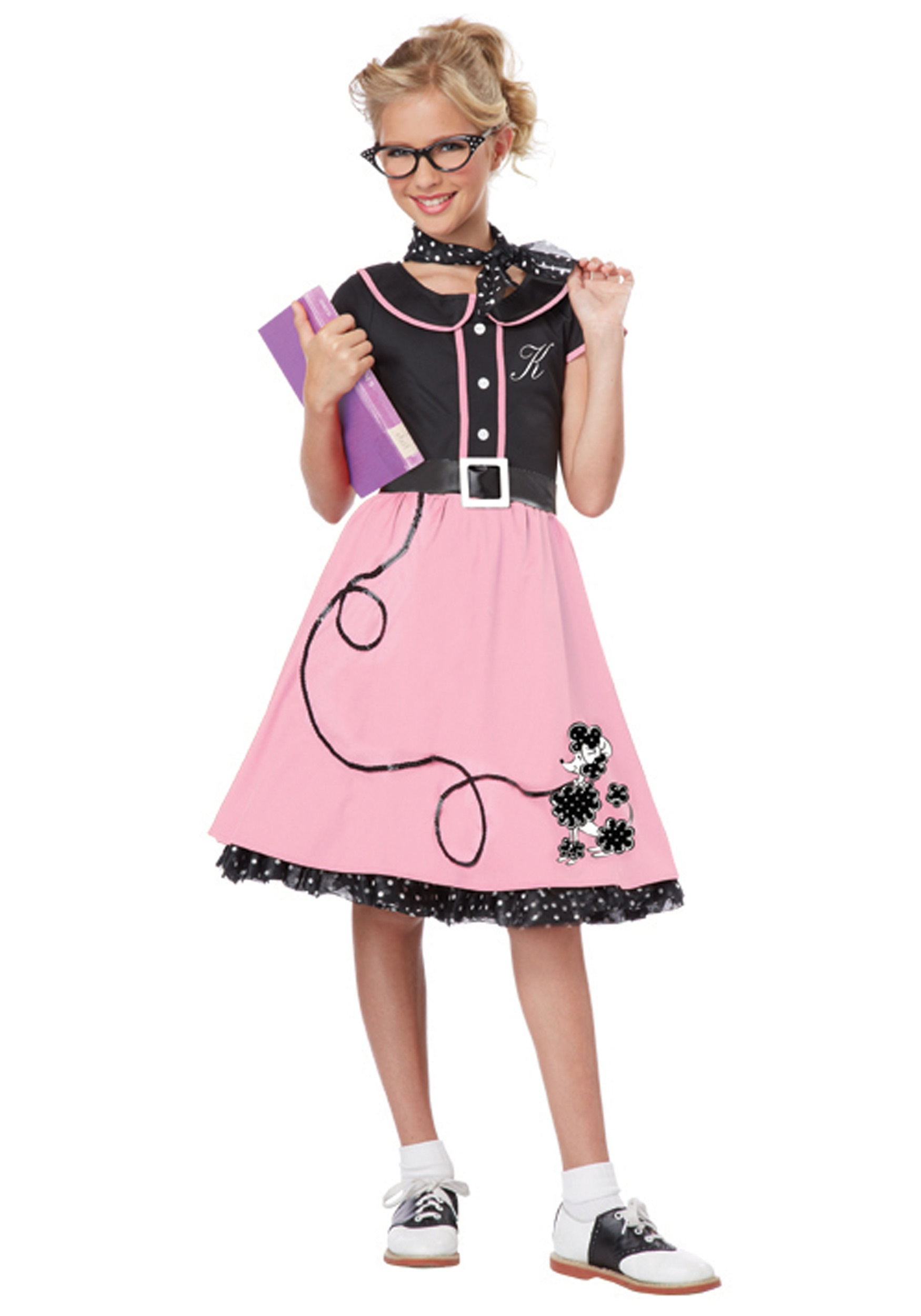 Pink 50s Sweetheart Costume for Girls