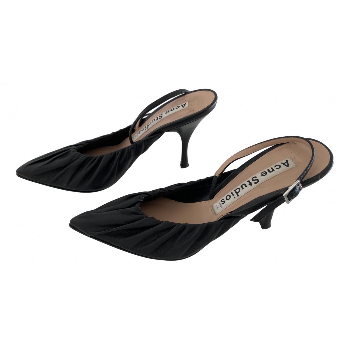 Acne Studios N Black Leather Sandals for Women 36 EU