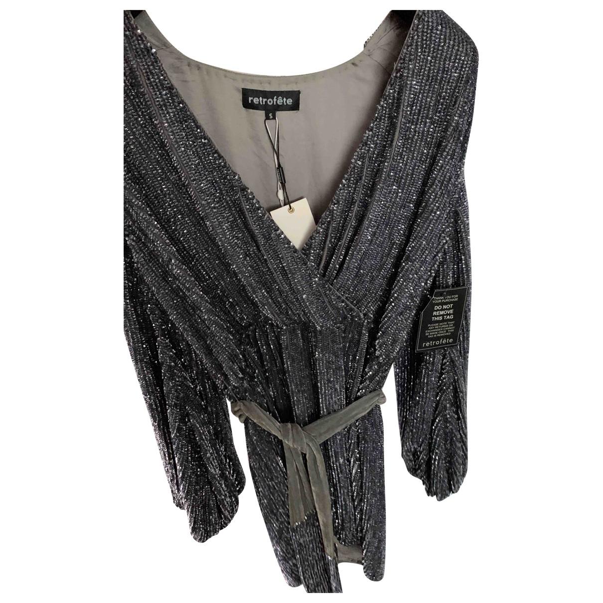 Retrofete \N Kleid in  Grau Mit Pailletten