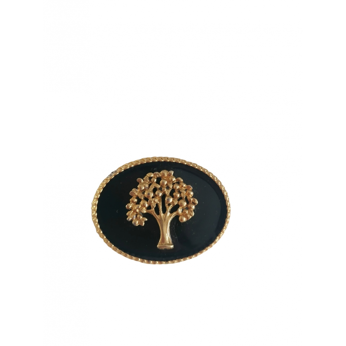 Non Signé / Unsigned Motifs Floraux Gold Metal Pins & brooches for Women \N