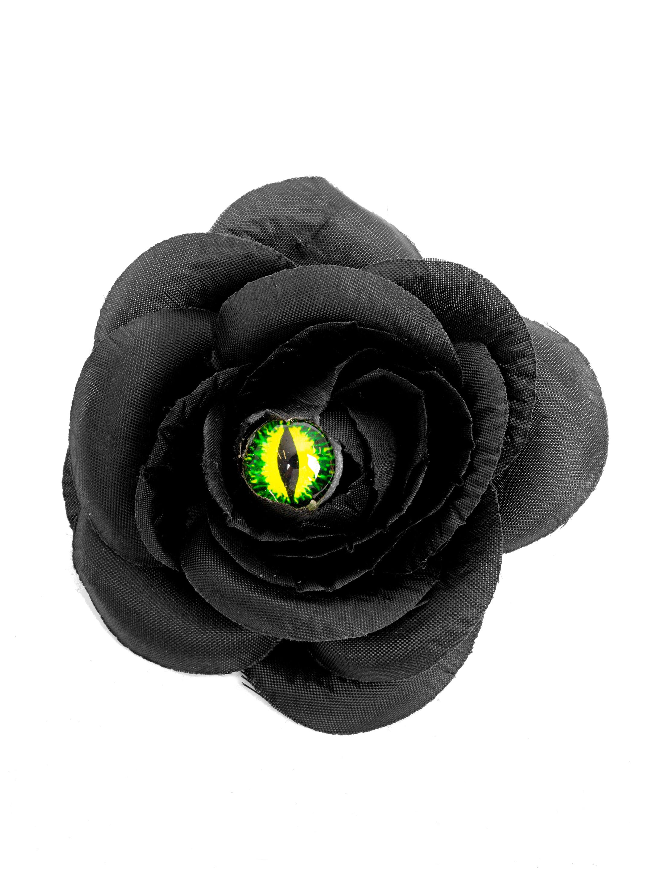 Kostuemzubehor Haarspange Katzenauge schwarz