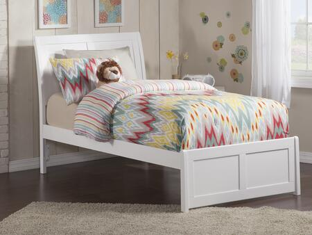 Portland Collection AR8916032 Twin Extra Long Size Bed with Matching Footboard  Traditional Style  Foundation Support Boards and Eco-Friendly Solid