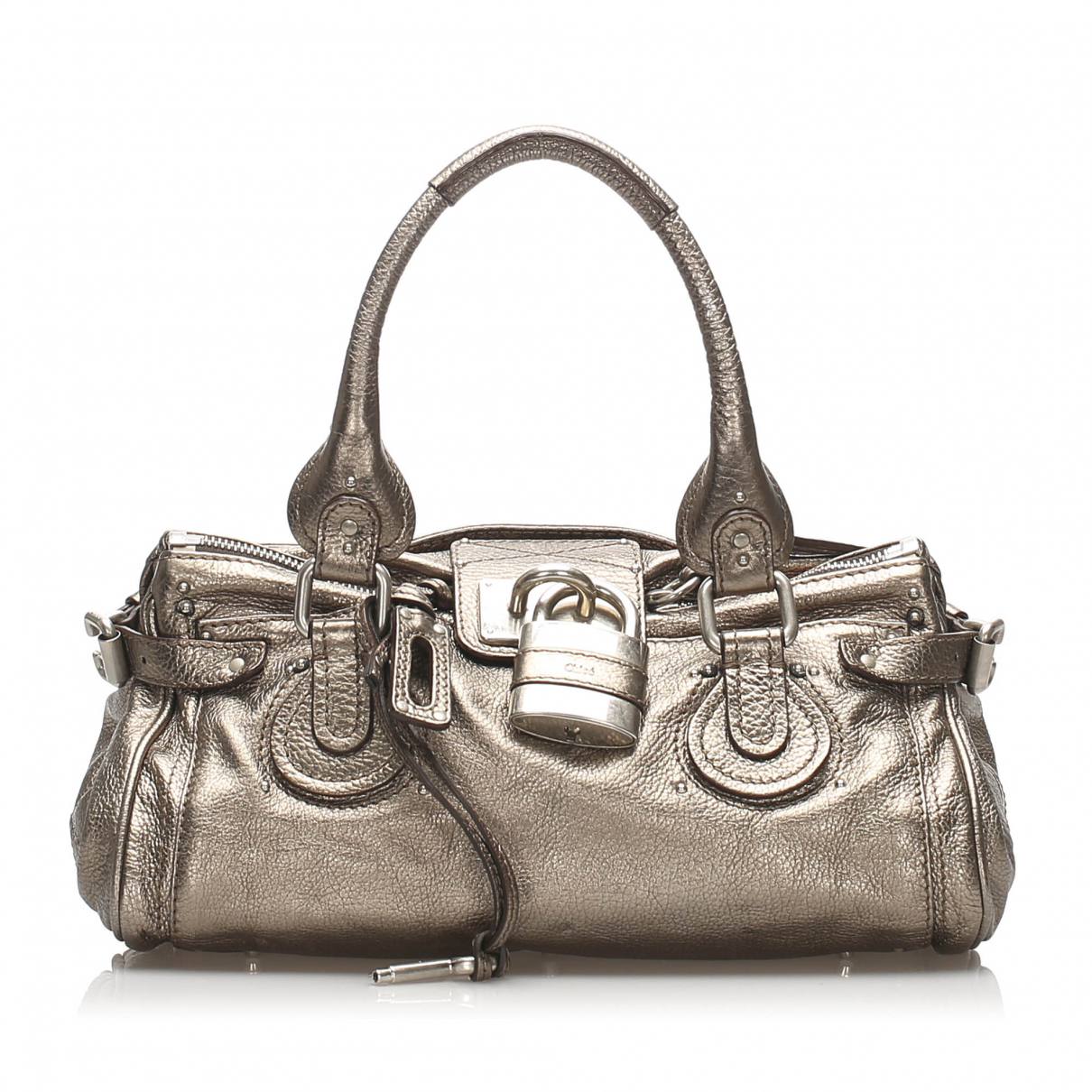 Chloé Paddington Silver Leather handbag for Women N