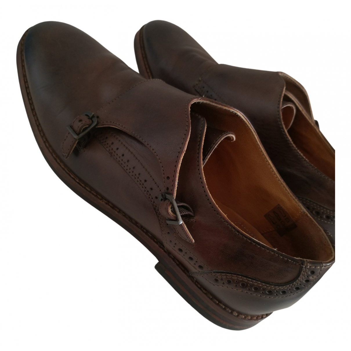 H By Hudson \N Brown Leather Flats for Men 44 EU