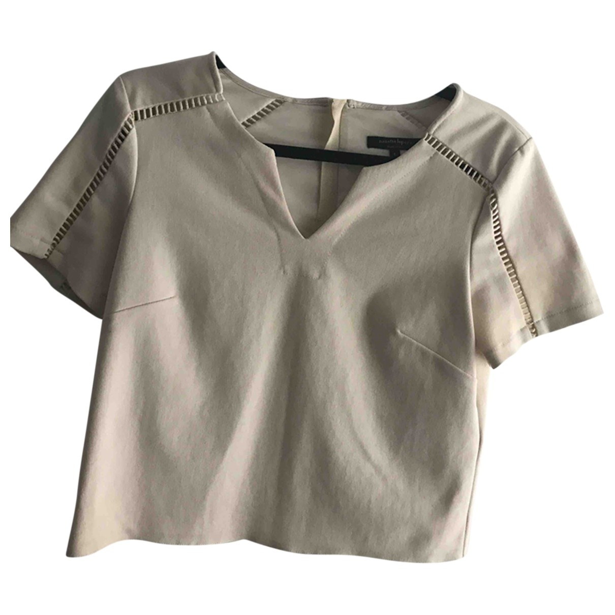 Non Signé / Unsigned \N Ecru  top for Women 6 US
