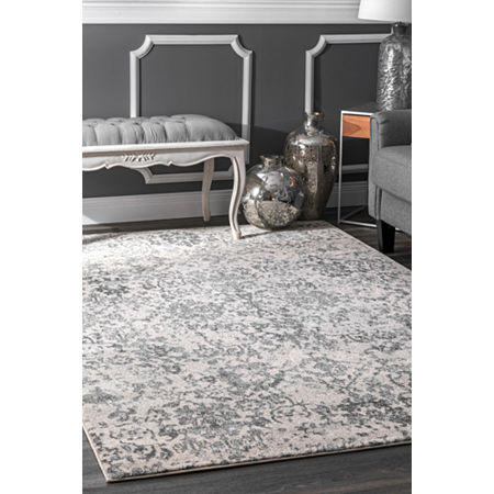 nuLoom Floral Damask Rosemary Rug, One Size , Gray