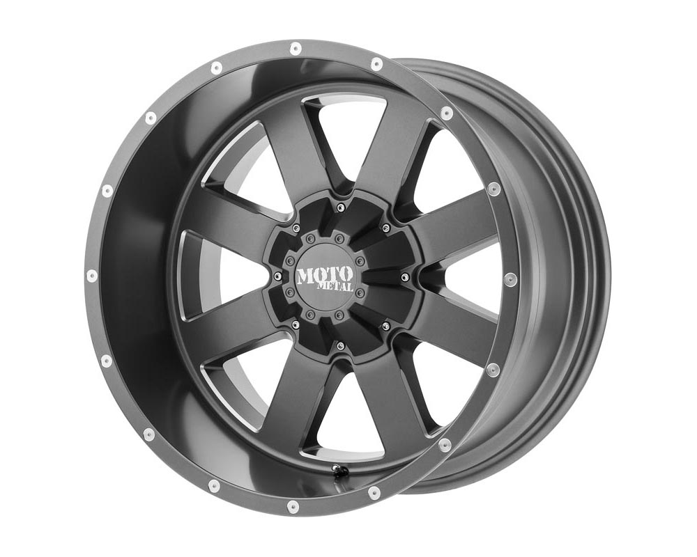 Moto Metal MO96289000400 MO962 Wheel 18.00x9.00 Blank 0 Satin Gray Milled