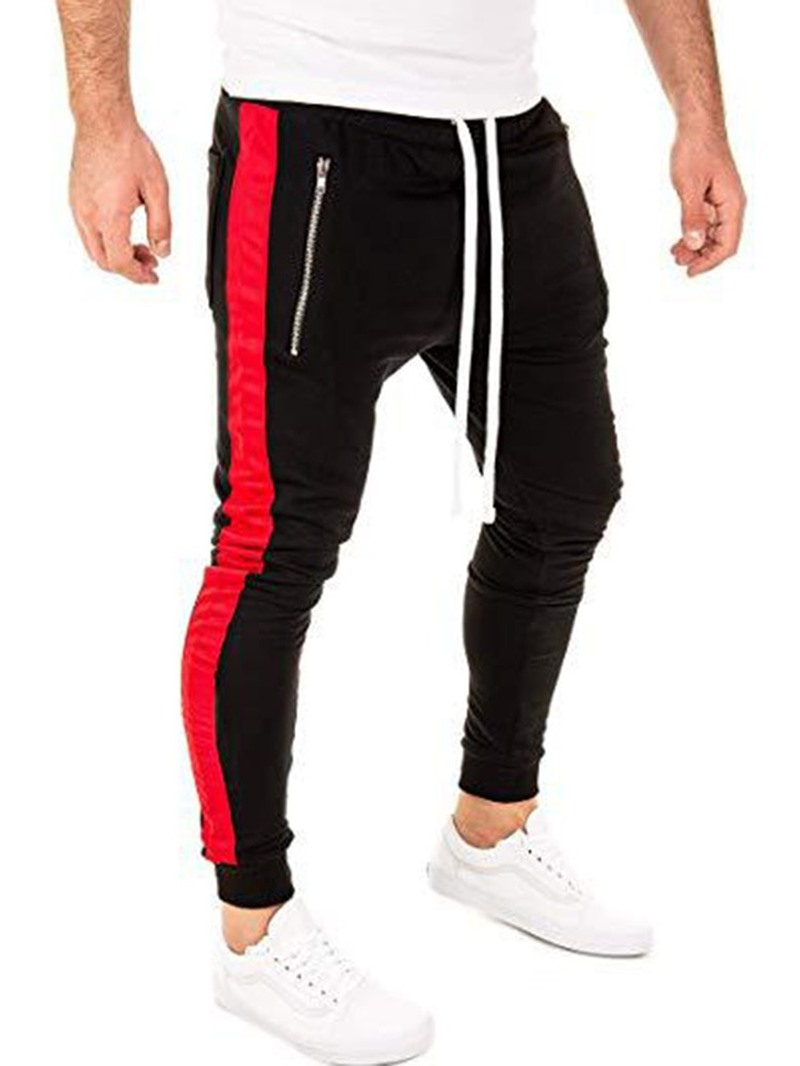 Ericdress Color Block Patchwork Four Seasons Sports Casual Pants