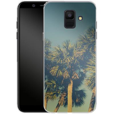 Samsung Galaxy A6 Silikon Handyhuelle - Sea Palms von Joy StClaire