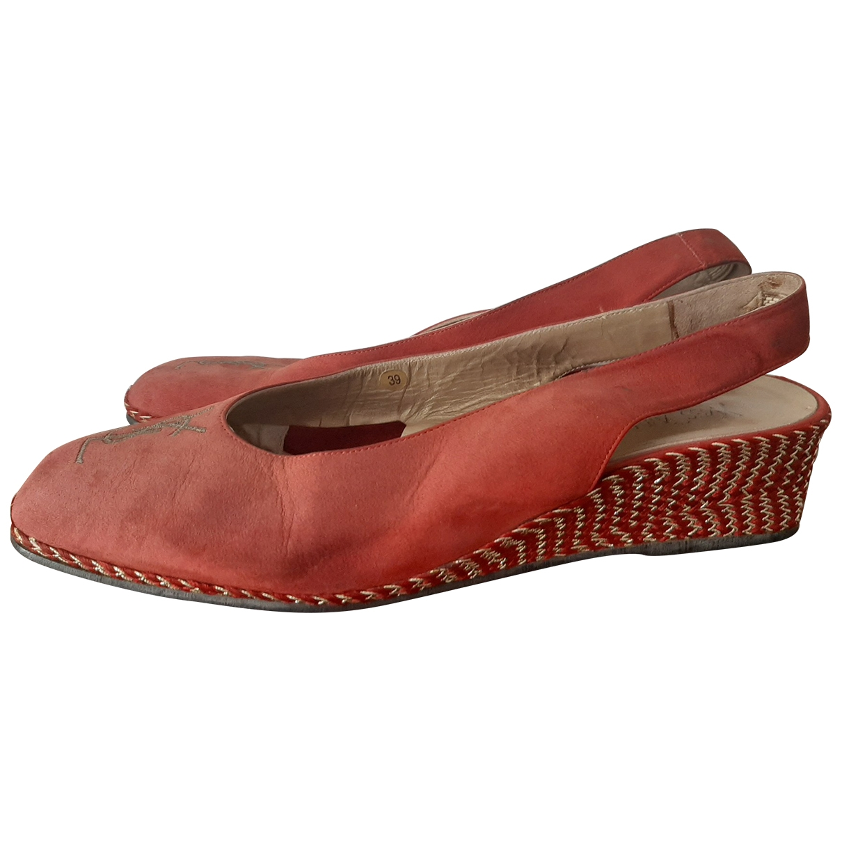 Yves Saint Laurent \N Espadrilles in  Rot Leinen