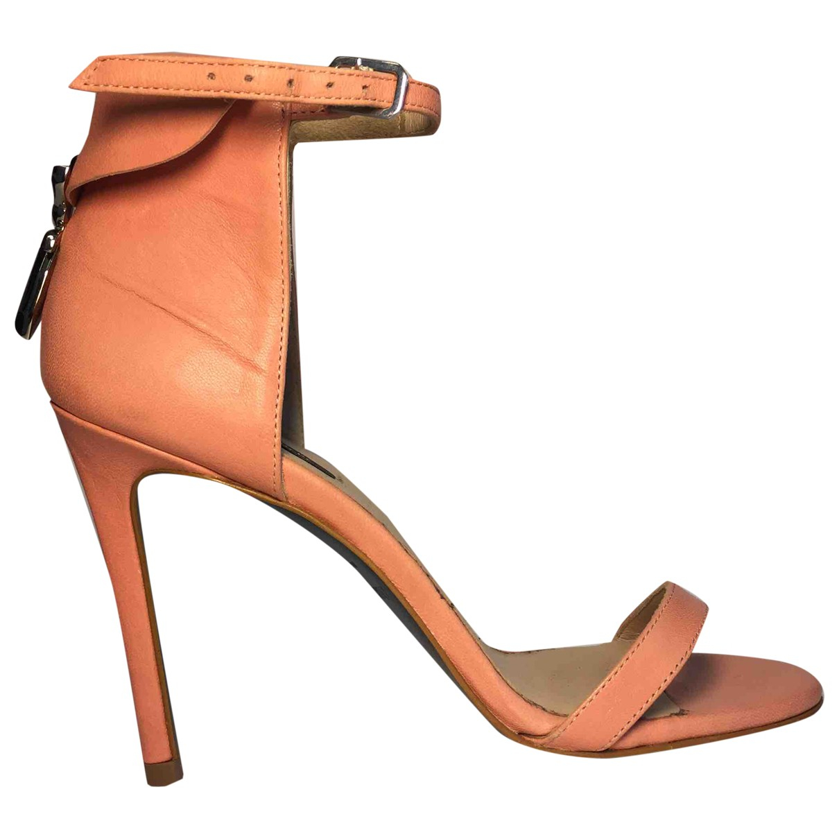 Patrizia Pepe \N Pink Leather Heels for Women 37 IT