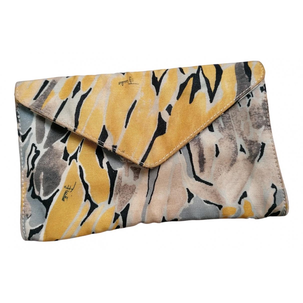 Emilio Pucci - Pochette   pour femme en toile - jaune