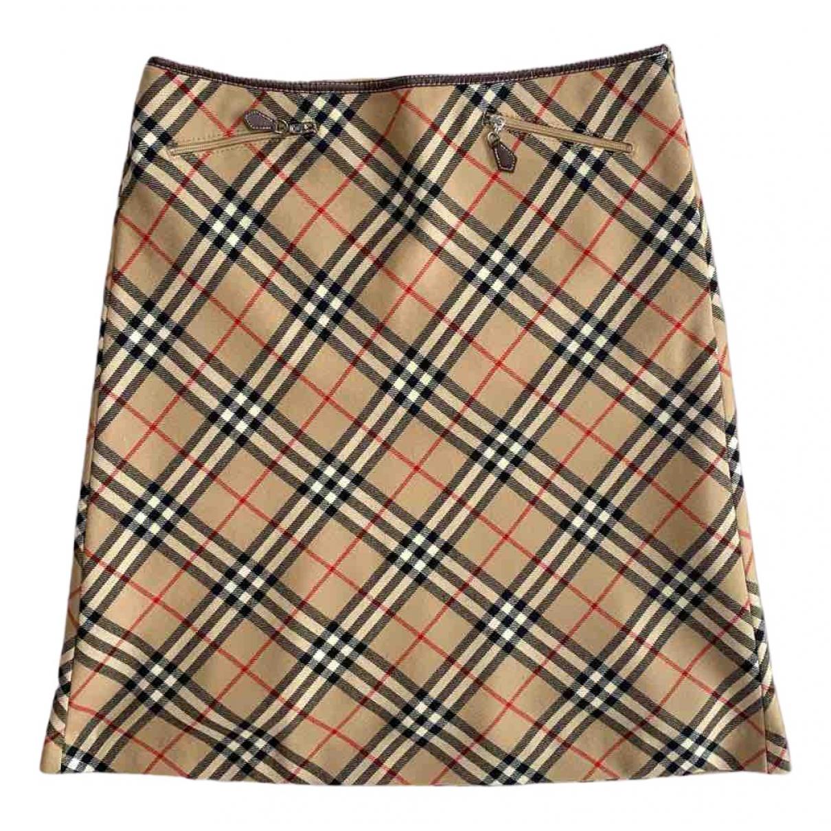 Burberry N Beige Cotton skirt for Women 36 FR