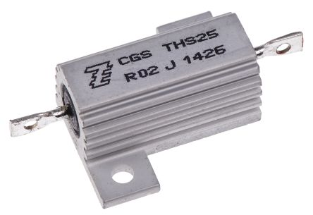 TE Connectivity THS25 Series Aluminium Housed Solder Lug Wire Wound Panel Mount Resistor, 20mΩ ±5% 25W