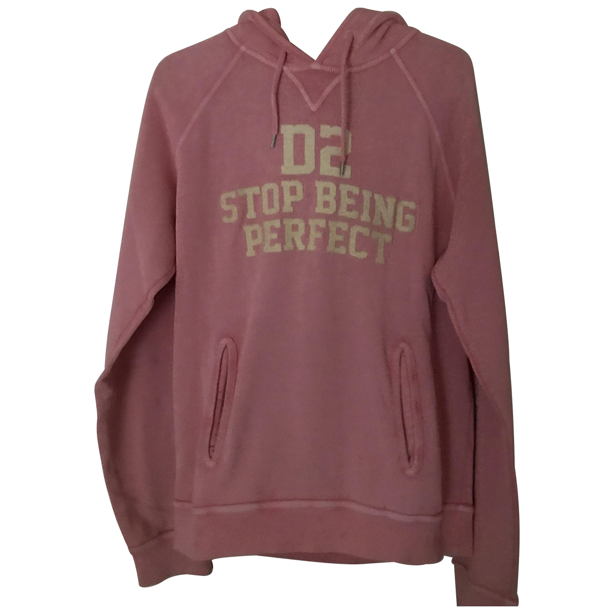 Dsquared2 \N Pullover.Westen.Sweatshirts  in  Rosa Baumwolle