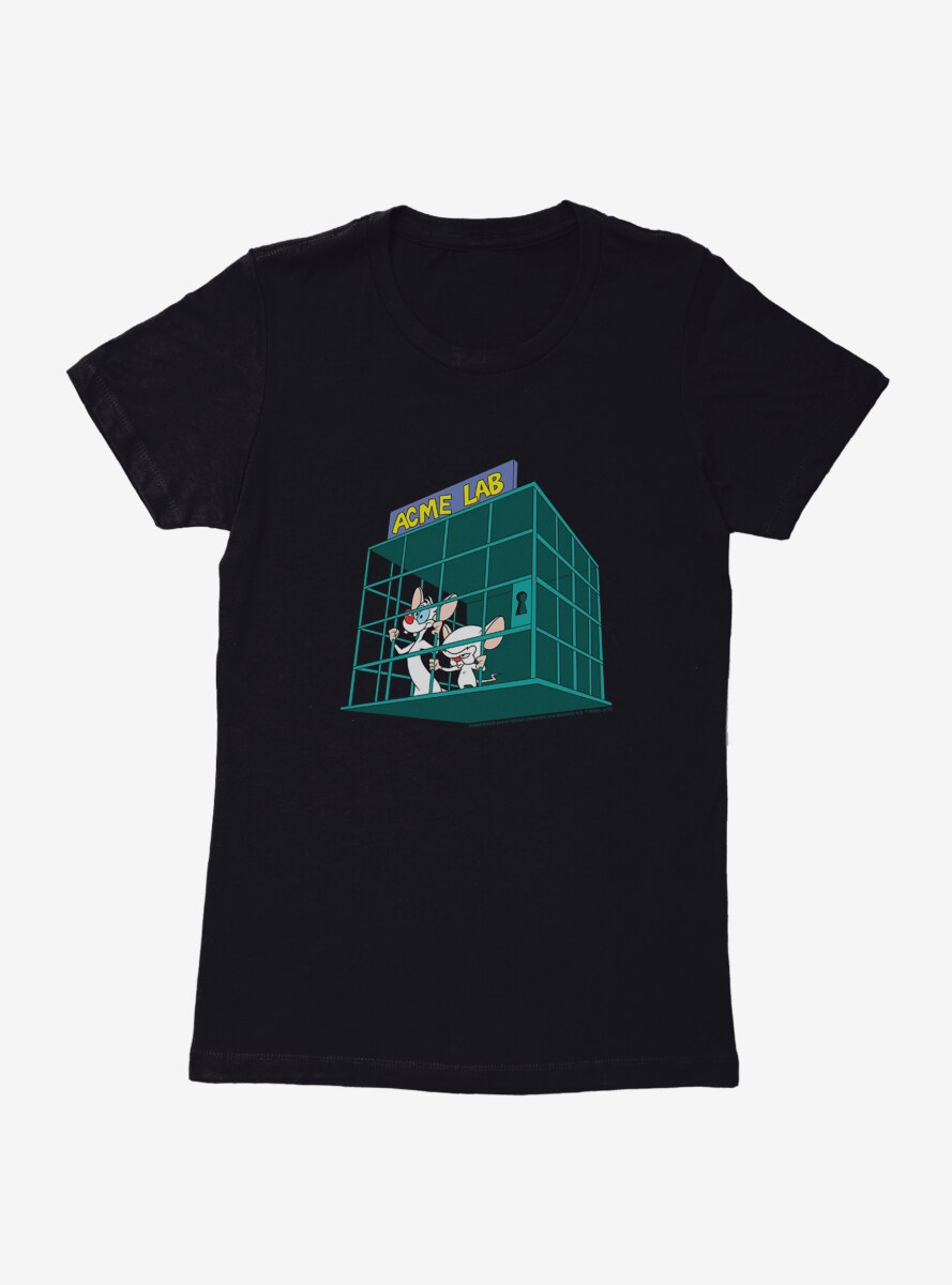 Animaniacs Pinky And The Brain Acme Lab Womens T-Shirt