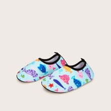 Toddler Boys Slip On Fish Pattern Shoes