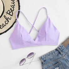 Bikini Top mit Kreuzgurt