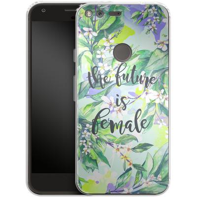 Google Pixel Silikon Handyhuelle - The Future is Female von Stephanie Breeze