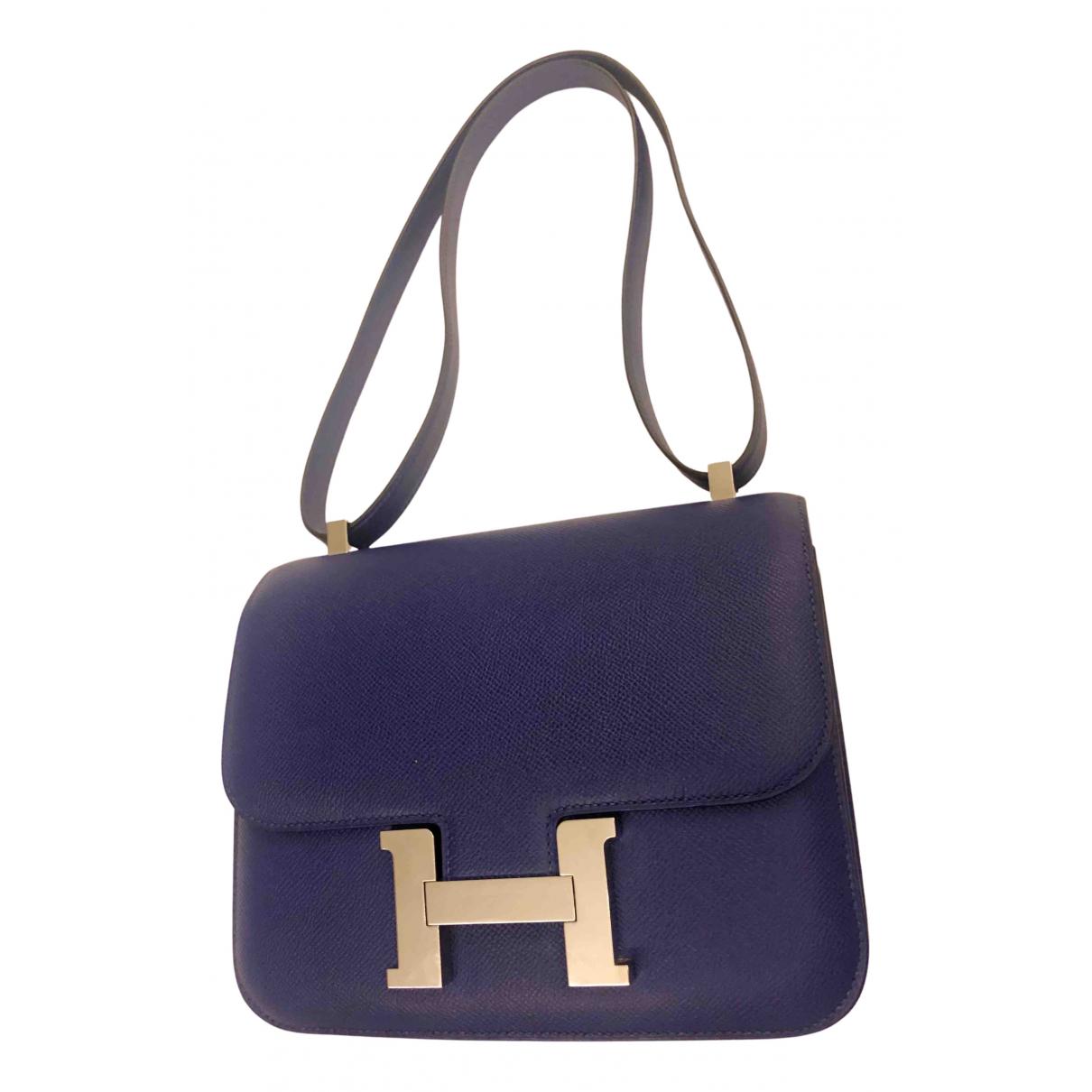 Hermès Constance Blue Leather handbag for Women N