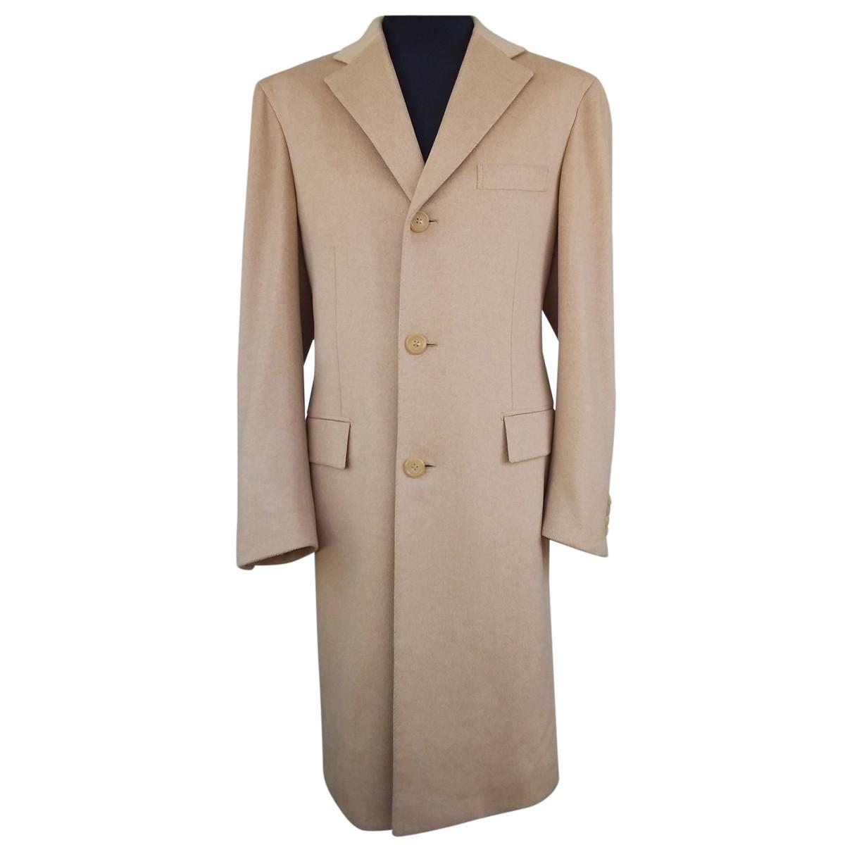 Brioni \N Camel Fur coat  for Men 50 IT