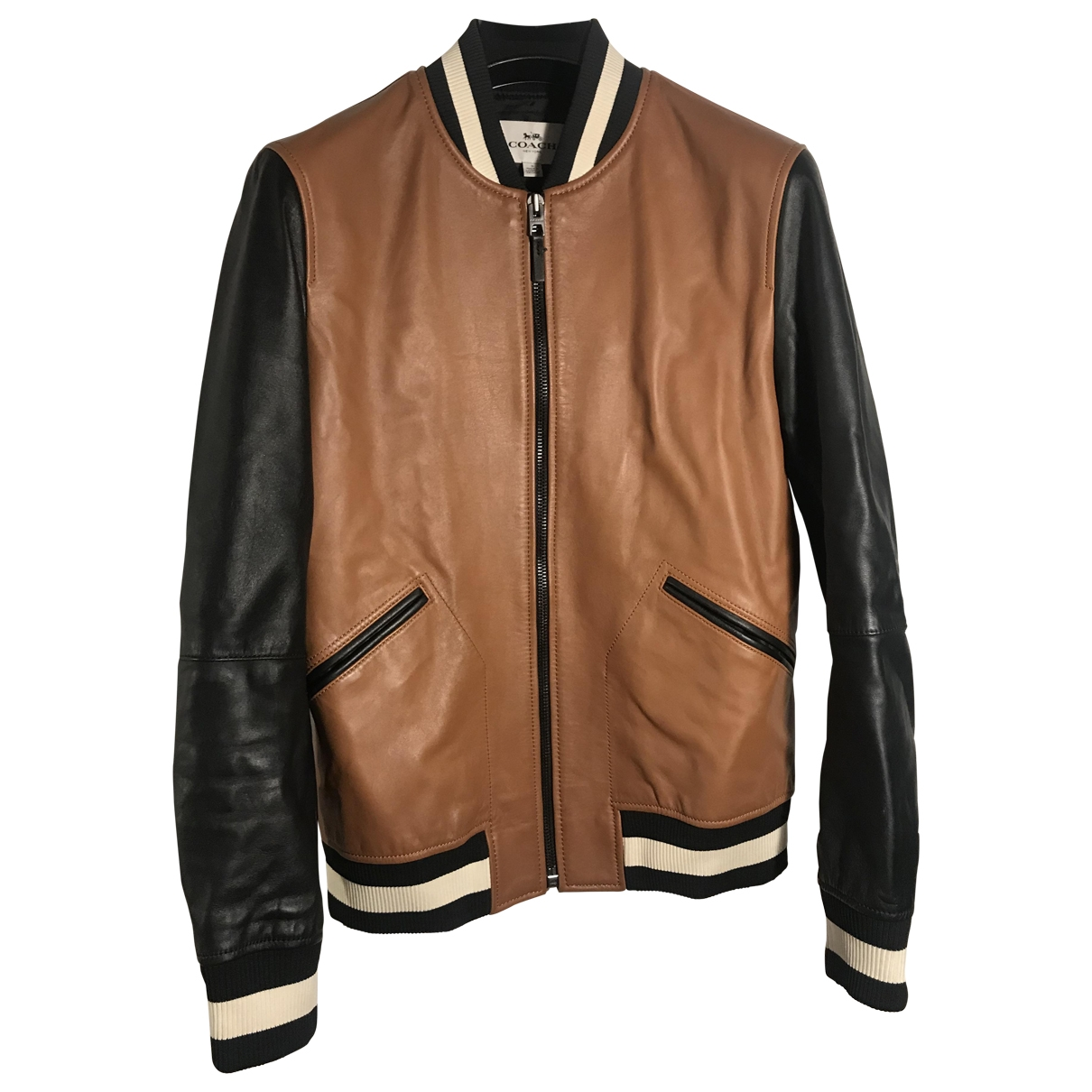 Coach \N Brown Leather jacket  for Men S International