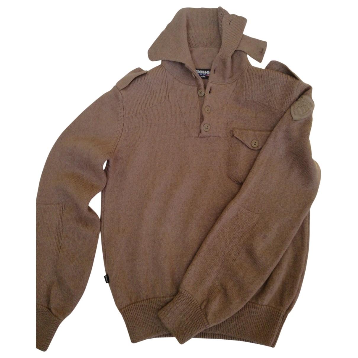 Blauer \N Pullover.Westen.Sweatshirts  in  Braun Wolle