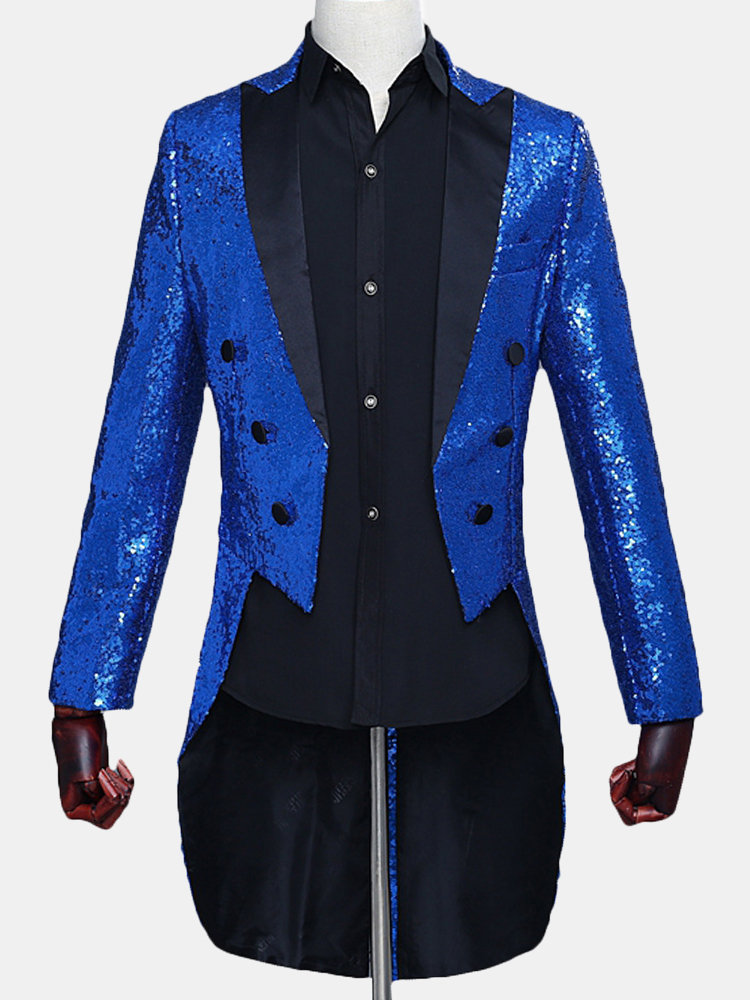 Sequin Tuxedo Magic Show Blazer for Men