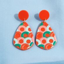 Ohrringe mit Wassertropfen Anhaenger