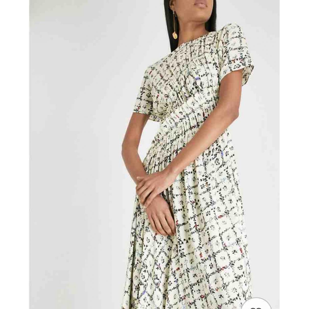 Preen Line \N Kleid in  Gelb Seide
