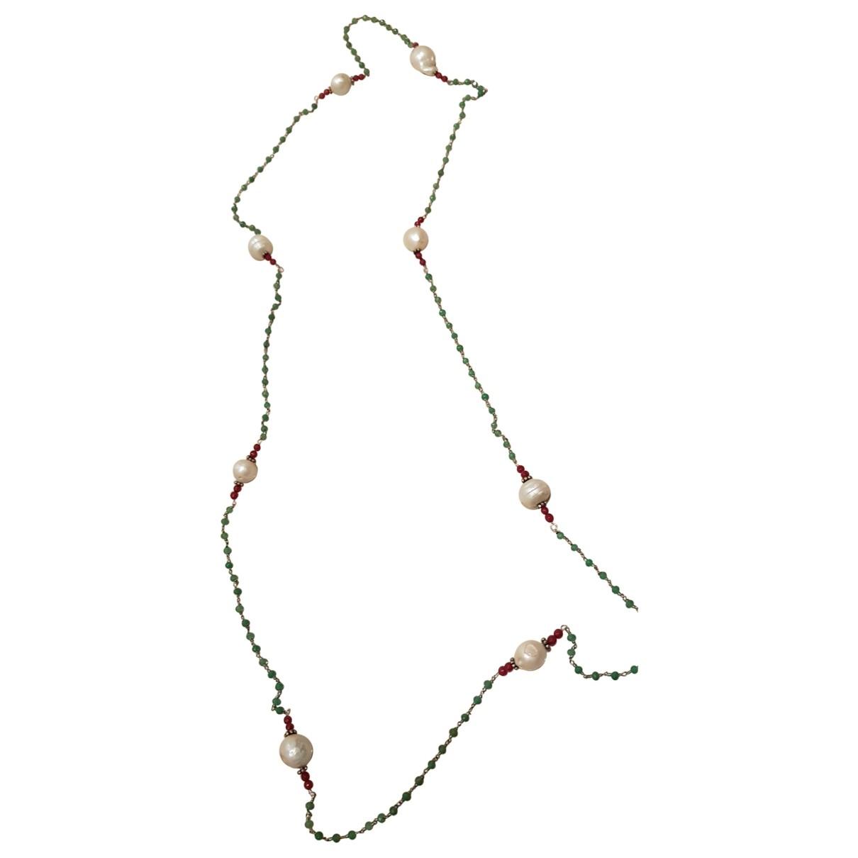 Non Signe / Unsigned Chaines Halskette in  Bunt Perlen