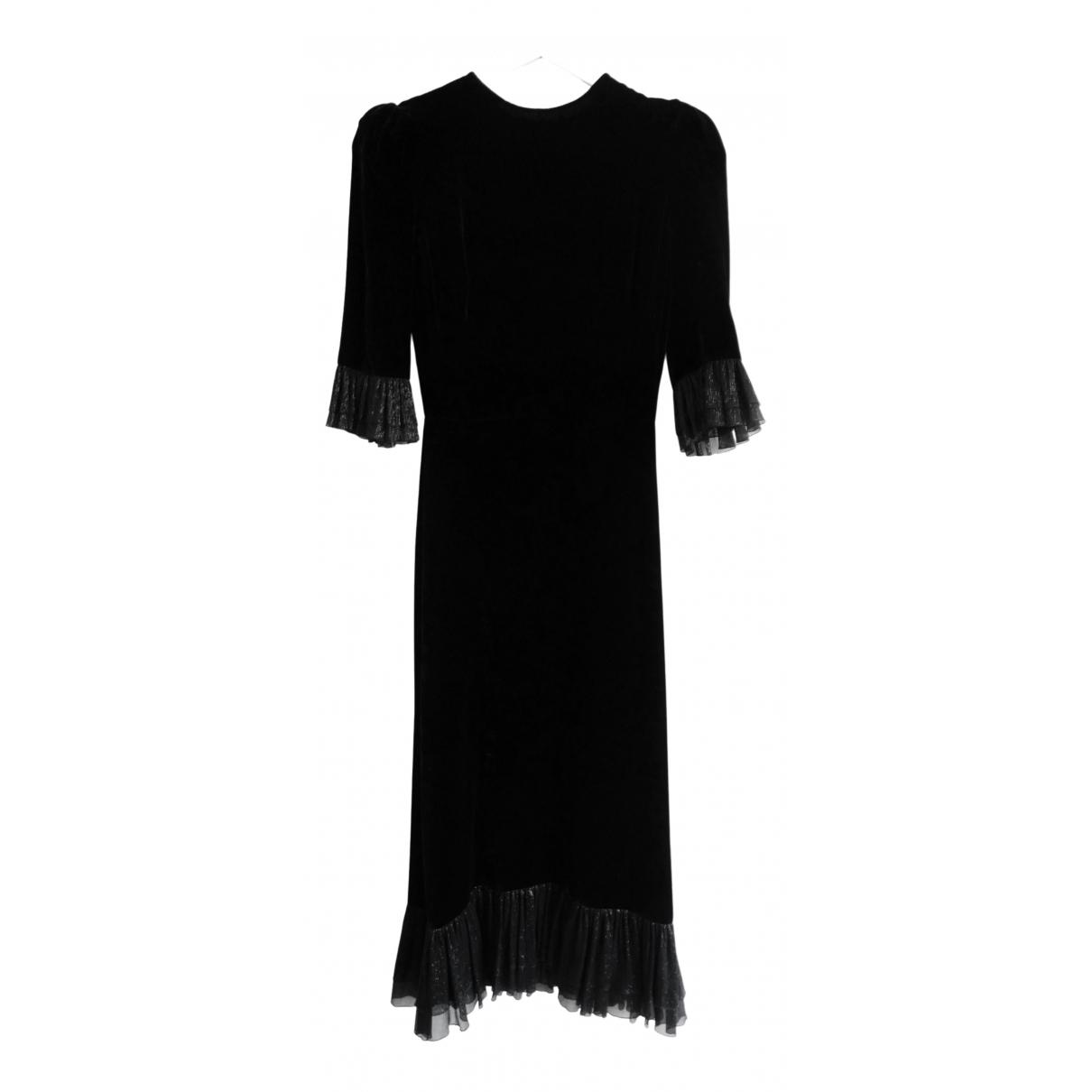 The Vampires Wife - Robe   pour femme en velours - noir