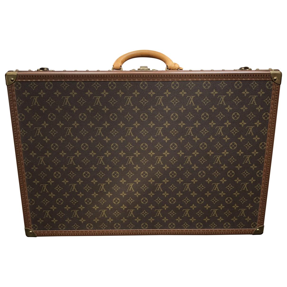 Louis Vuitton Bisten Reisetasche in  Braun Leinen