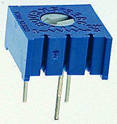 Bourns 2kΩ, Through Hole Trimmer Potentiometer 0.5W Top Adjust , 3386