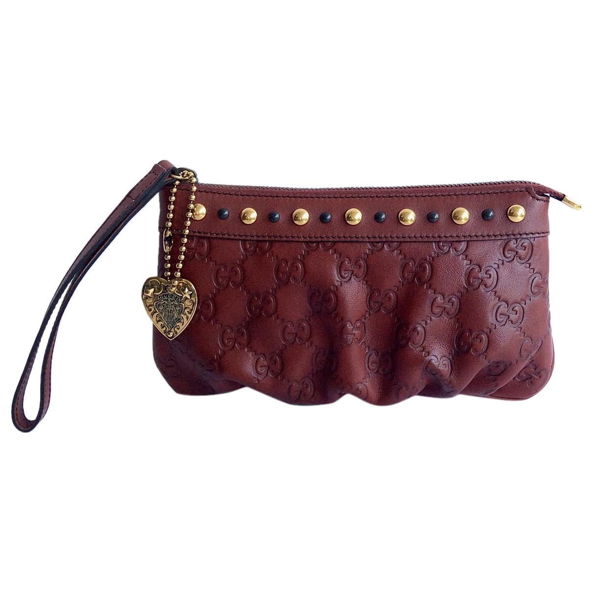 Gucci Hysteria Burgundy Leather Clutch bag for Women \N