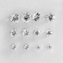 6 Paare Maenner Ohrstecker mit Kristall