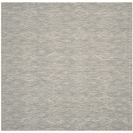 Safavieh Courtyard Collection Elisa Geometric Indoor/Outdoor Square Area Rug, One Size , Gray