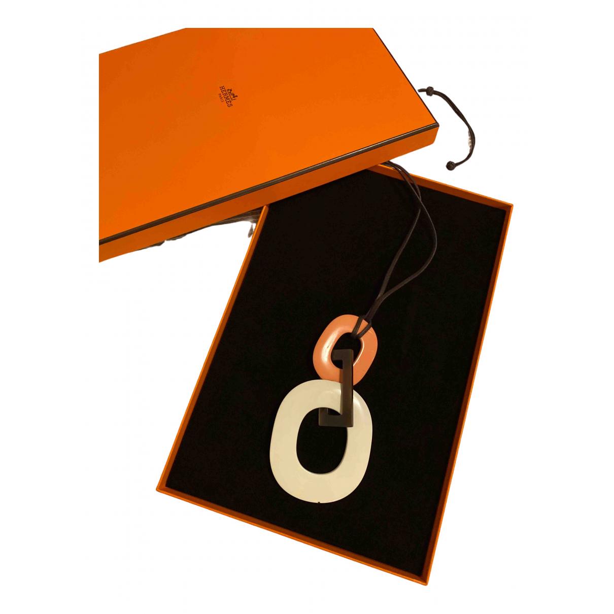 Hermes \N Halskette in  Weiss Metall