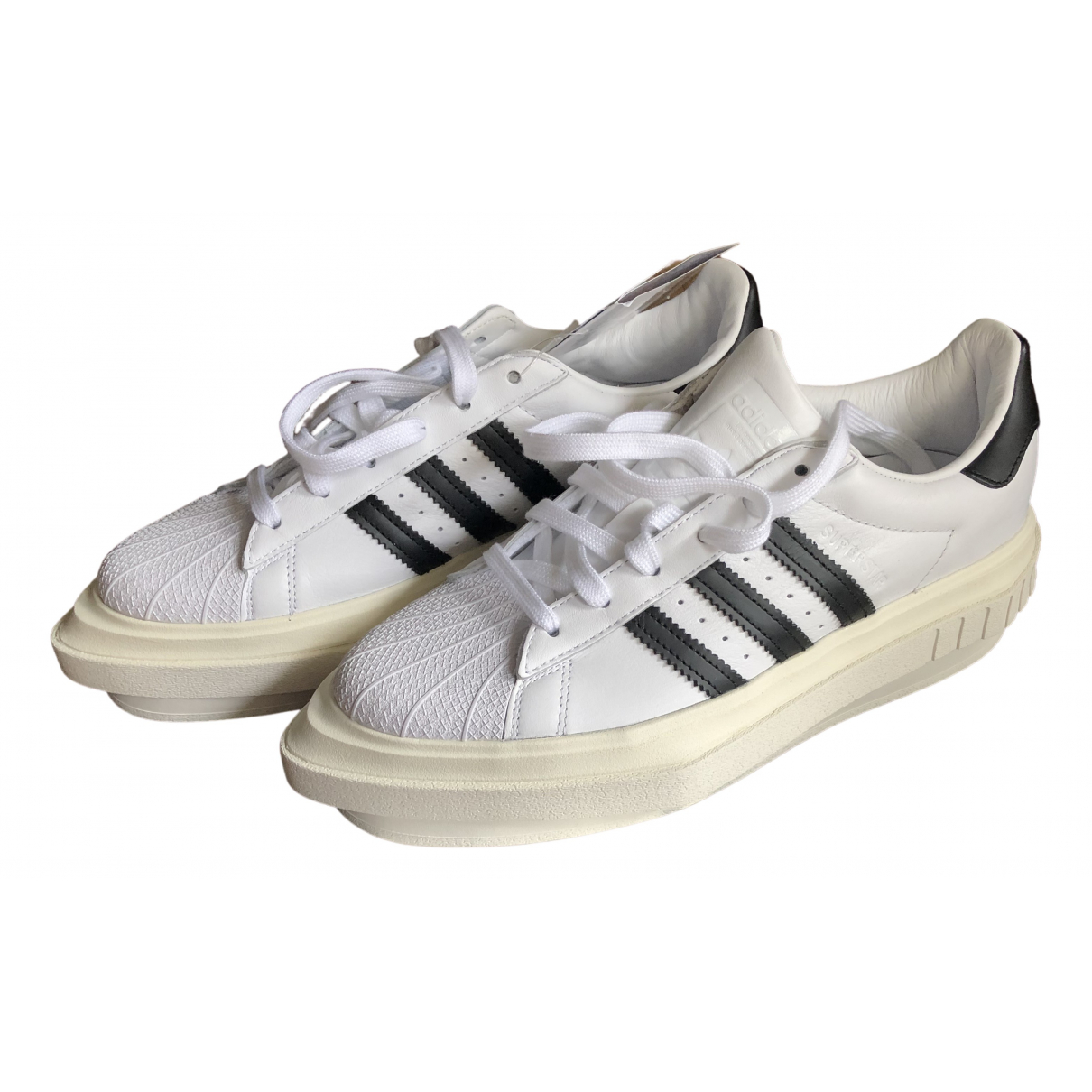 Adidas Superstar White Leather Trainers for Women 42.5 EU