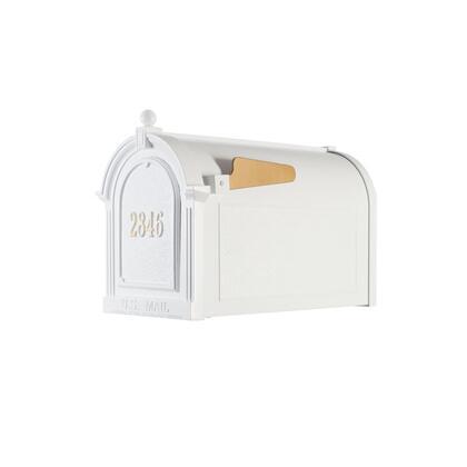 16512 Aluminum Capitol Mailbox Door Plaque Package in